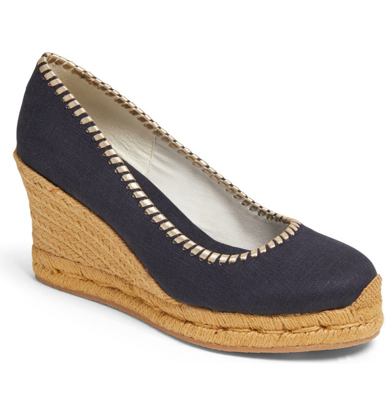 JACK ROGERS Palmer Wedge Espadrille, Main, color, MIDNIGHT