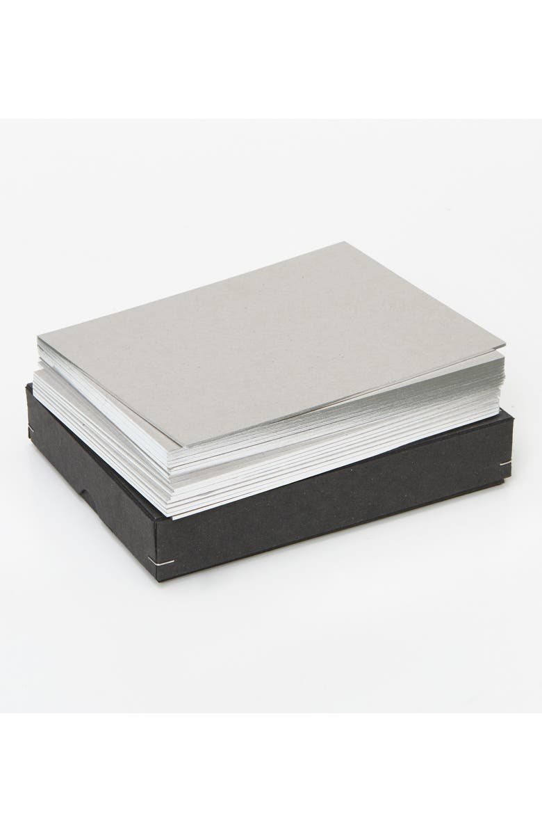 WMS & CO. Metallic Edged Note Cards, Main, color, SILVER