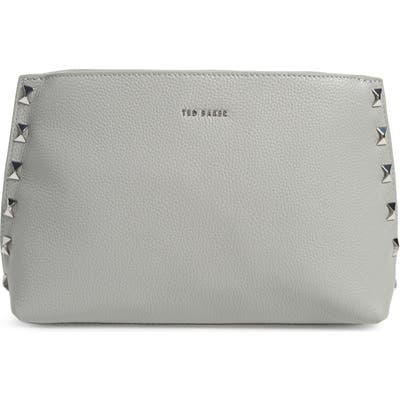 Ted Baker London Jemira Bow Leather Clutch - Grey