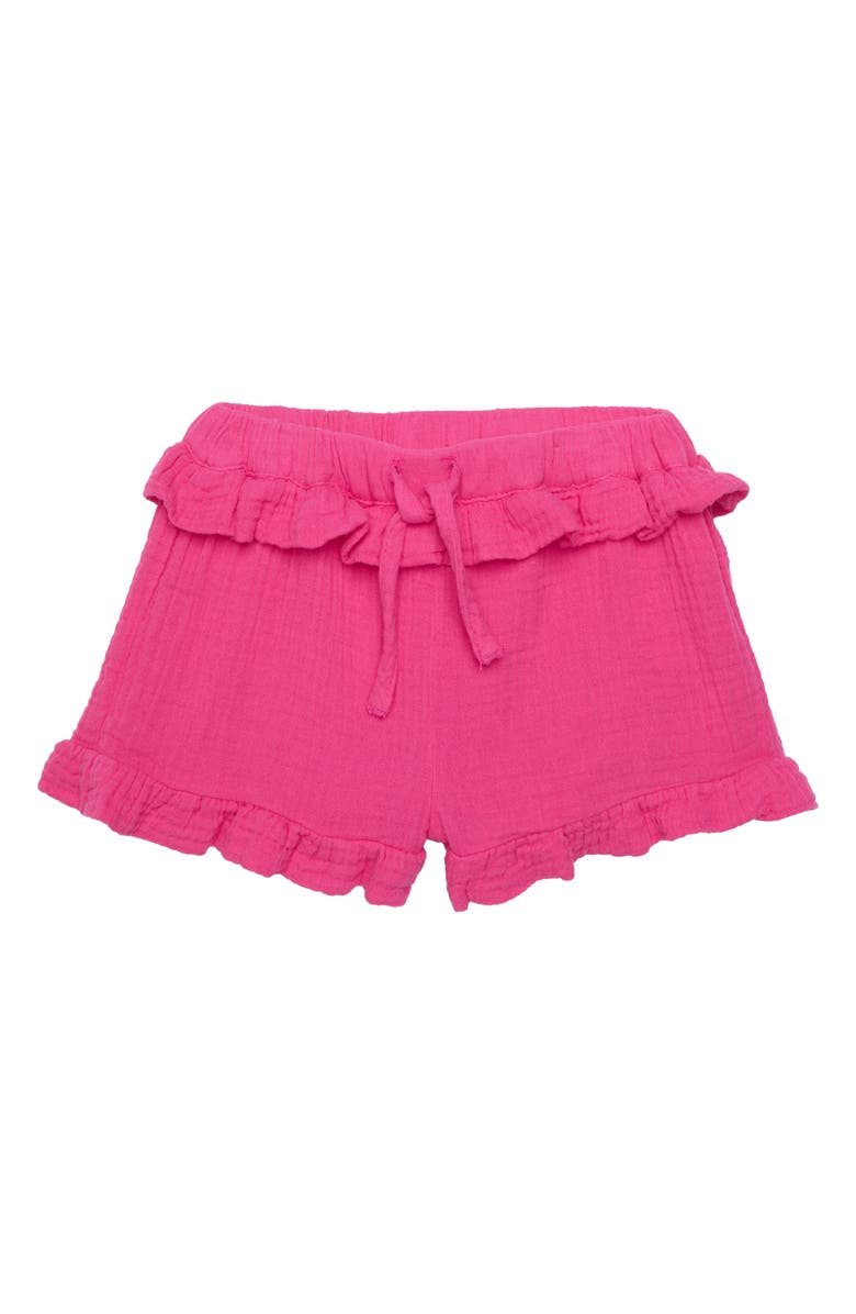 SEED HERITAGE Crinkled Cotton Shorts, Main, color, FUCHSIA