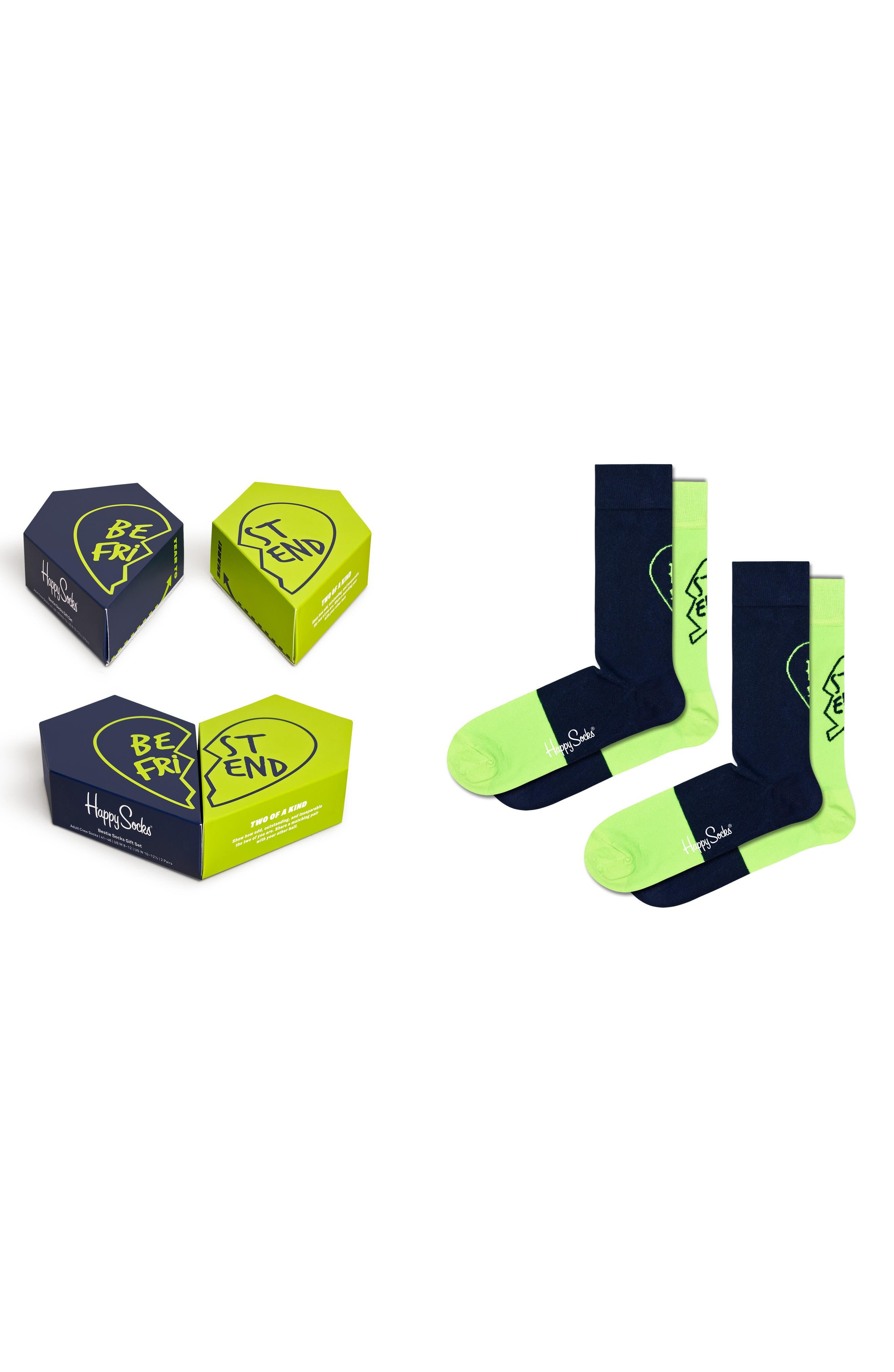 Bestie 2-Pack Crew Socks Gift Box