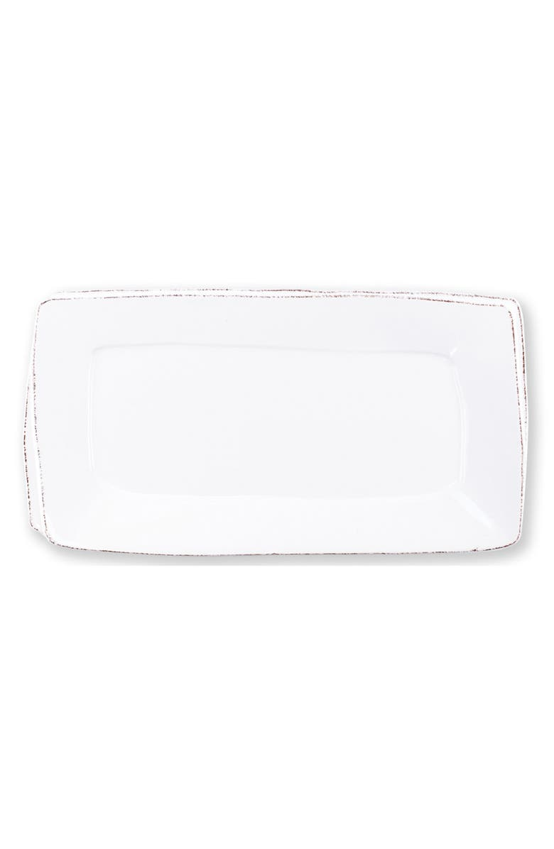 VIETRI Lastra Rectangular Stoneware Platter, Main, color, WHITE