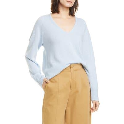 Vince Wool & Cashmere V-Neck Sweater, Blue