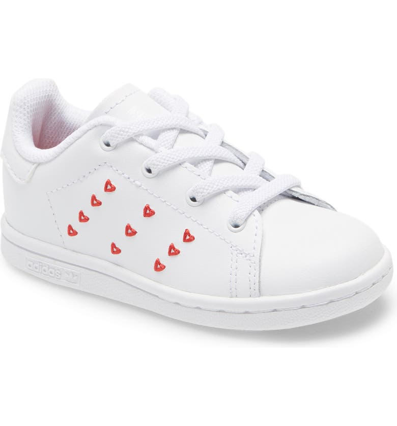 ADIDAS Stan Smith Valentine Sneaker, Main, color, WHITE/ WHITE/ LUSH RED