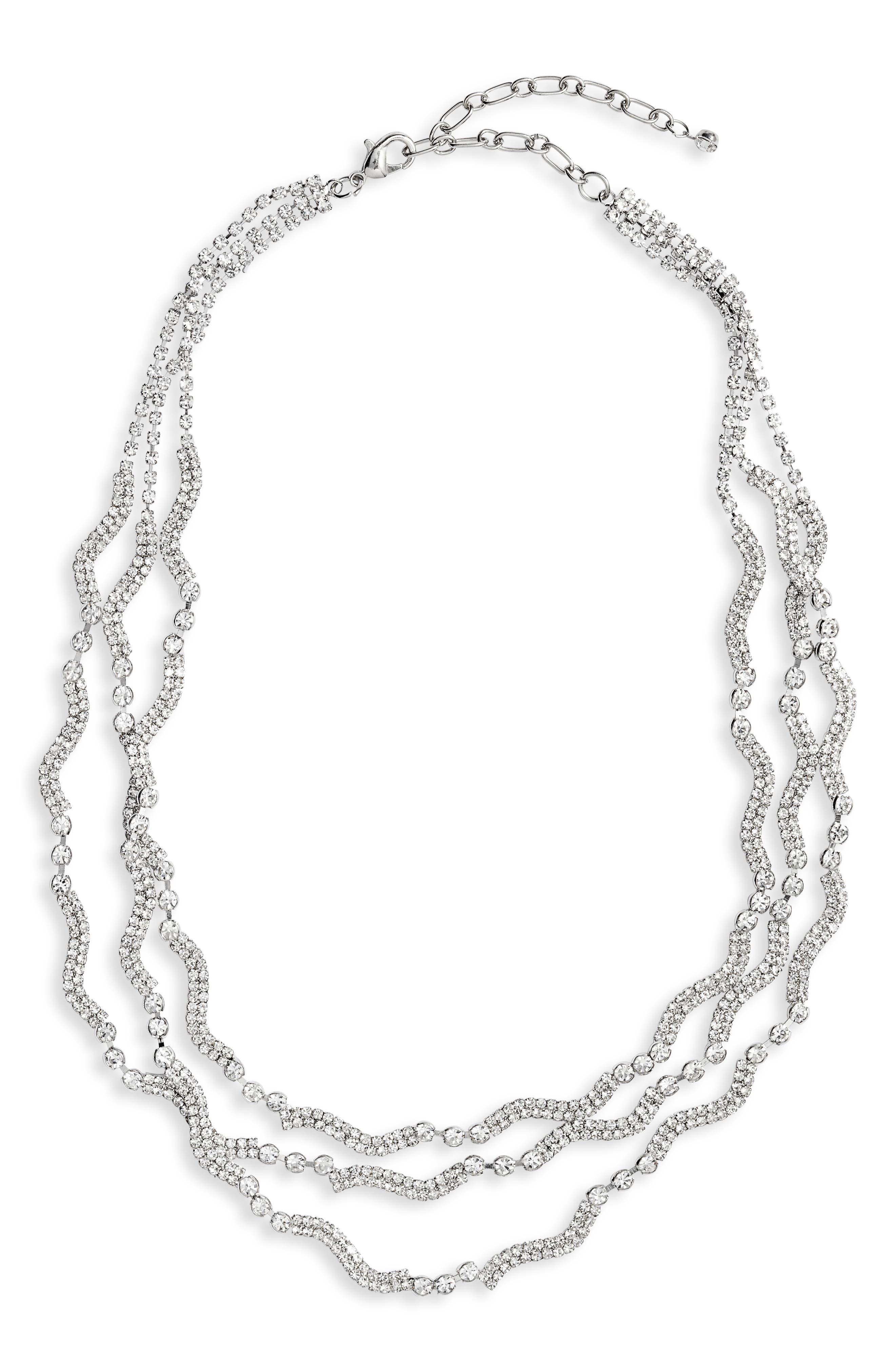 Crystal Multistrand Necklace