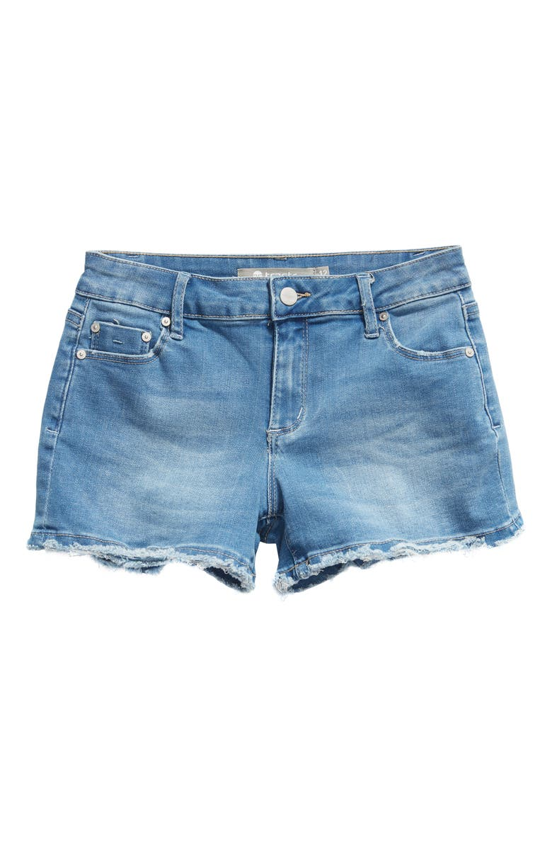 TRACTR Cutoff Denim Shorts, Main, color, INDIGO