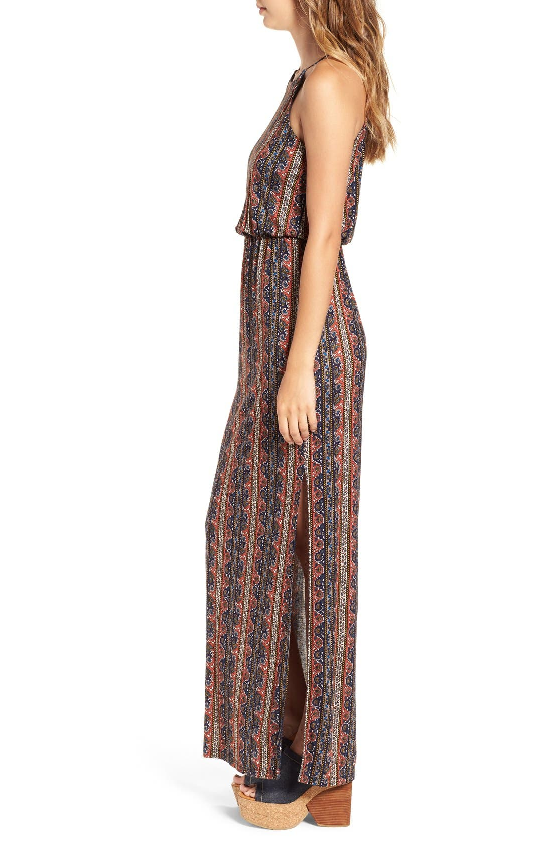 ,                             High Neck Maxi Dress,                             Alternate thumbnail 105, color,                             402