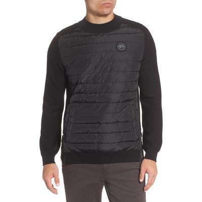 Canada Goose Hybridge Reversible Down & Wool Sweater, Black