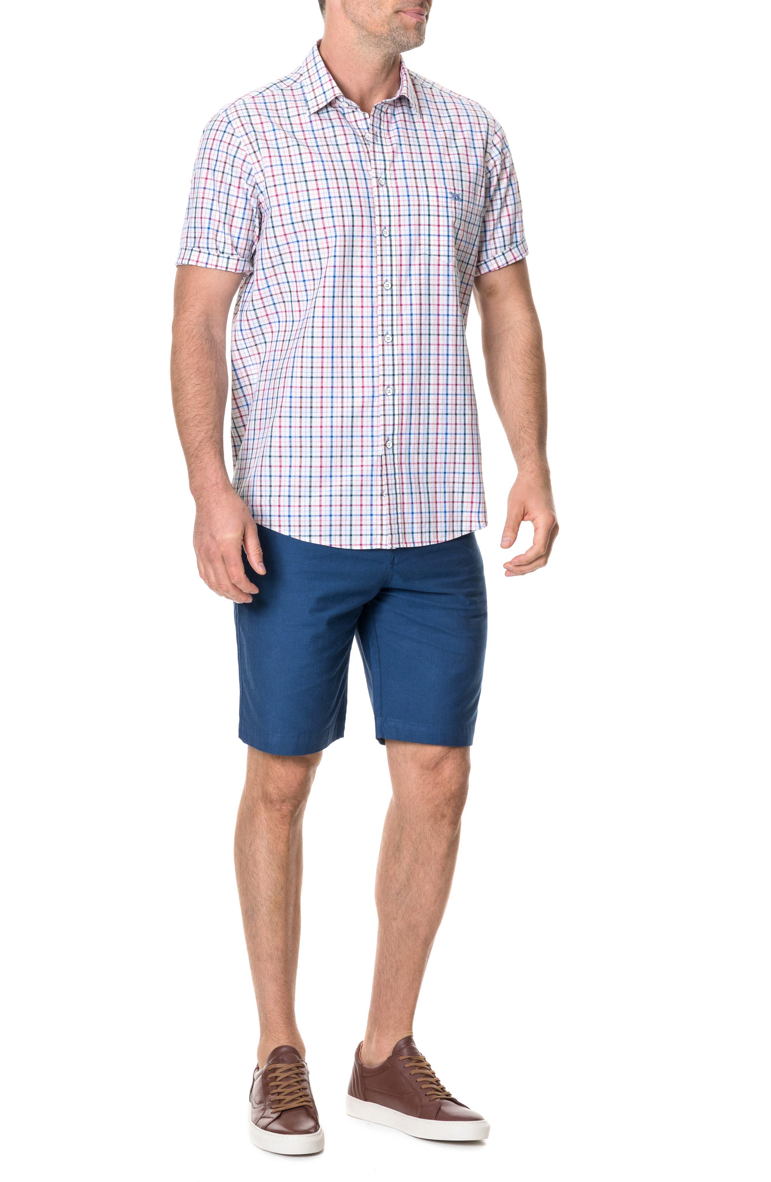 ,                             Wilder Regular Fit Check Sport Shirt,                             Alternate thumbnail 3, color,                             CORAL REEF