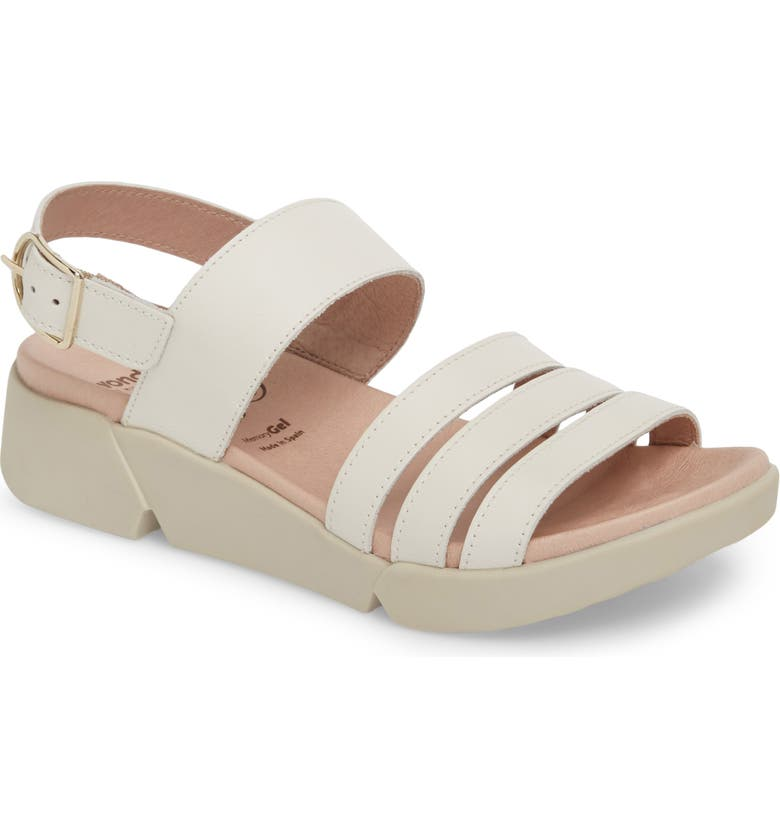 WONDERS A-8004 Sandal, Main, color, OFF WHITE LEATHER