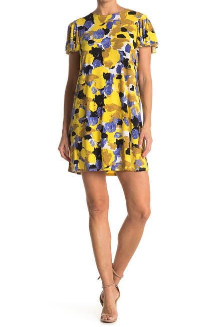 Image of TASH + SOPHIE Abstract Print A-Line Dress