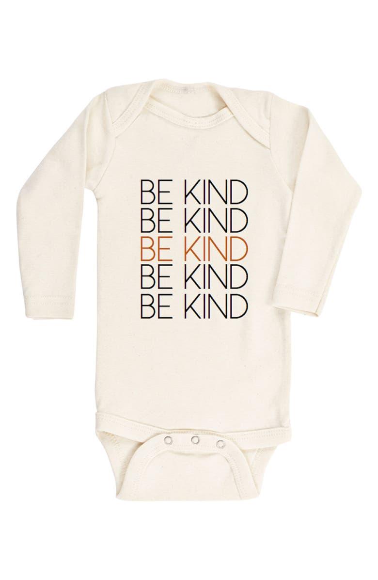 TENTH & PINE Be Kind Organic Cotton Bodysuit, Main, color, NATURAL