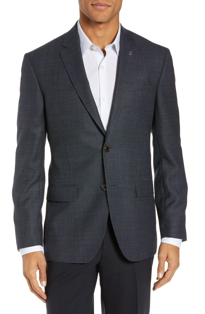TED BAKER LONDON Jay Trim Fit Wool Blazer, Main, color, 410