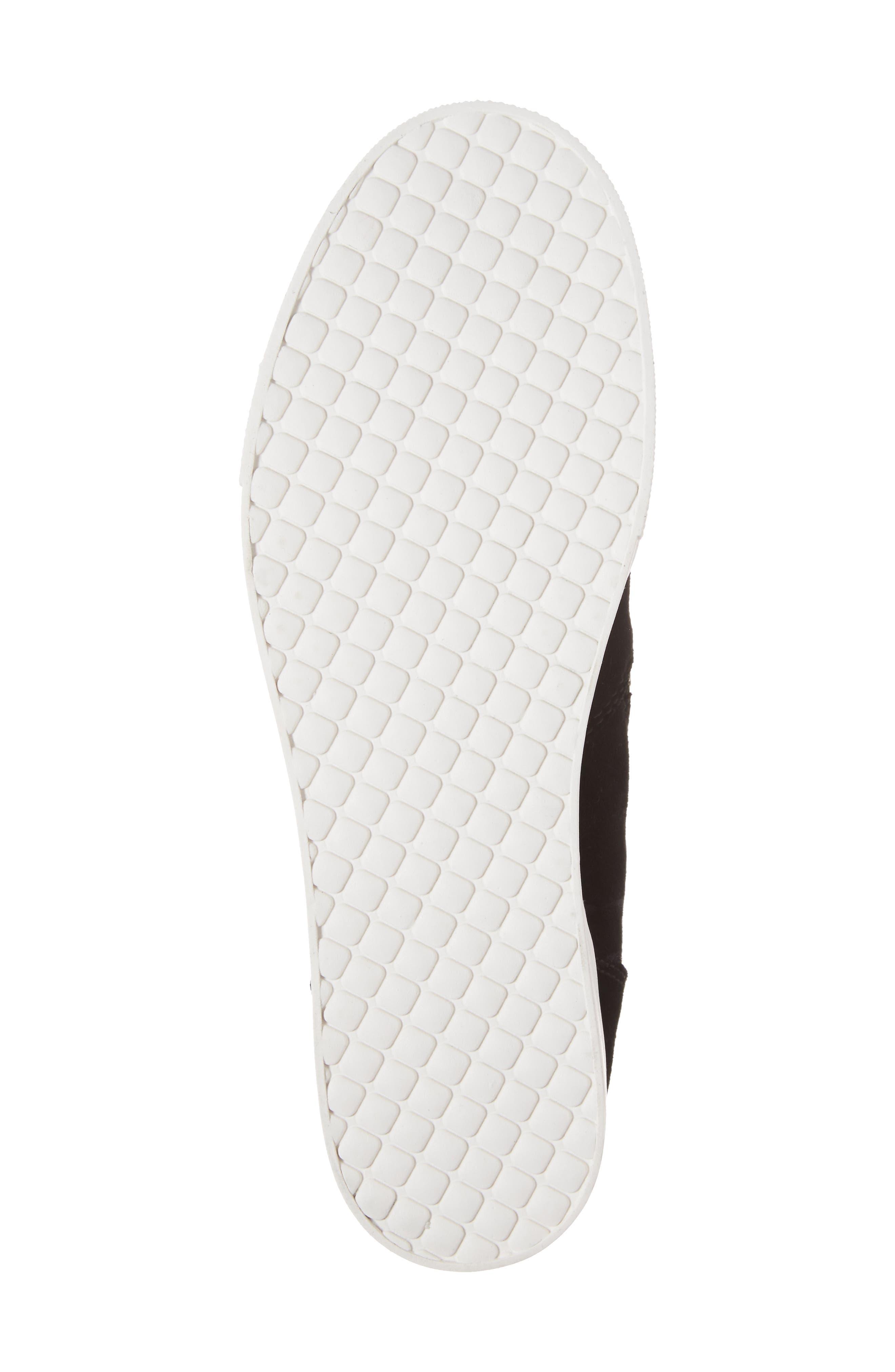 ,                             Wedgie High Top Platform Sneaker,                             Alternate thumbnail 6, color,                             BLACK SUEDE