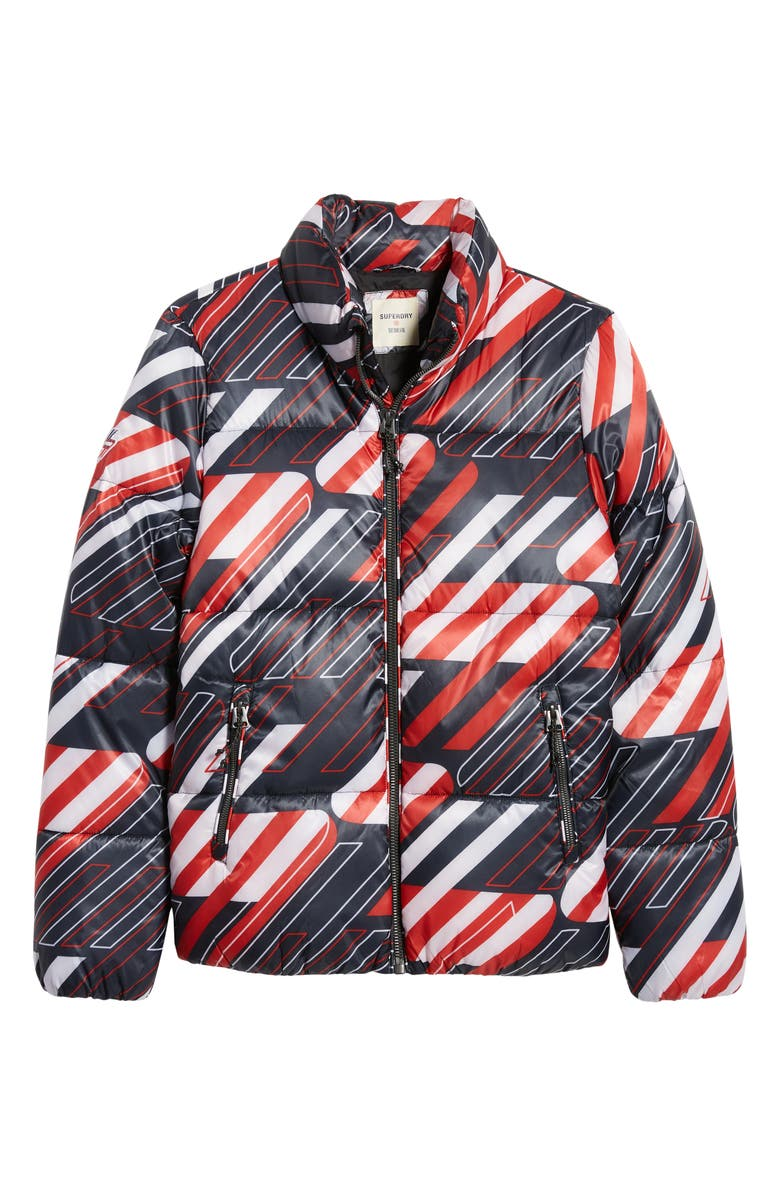 SUPERDRY Sportstyle Men's Puffer Jacket, Main, color, NAVY