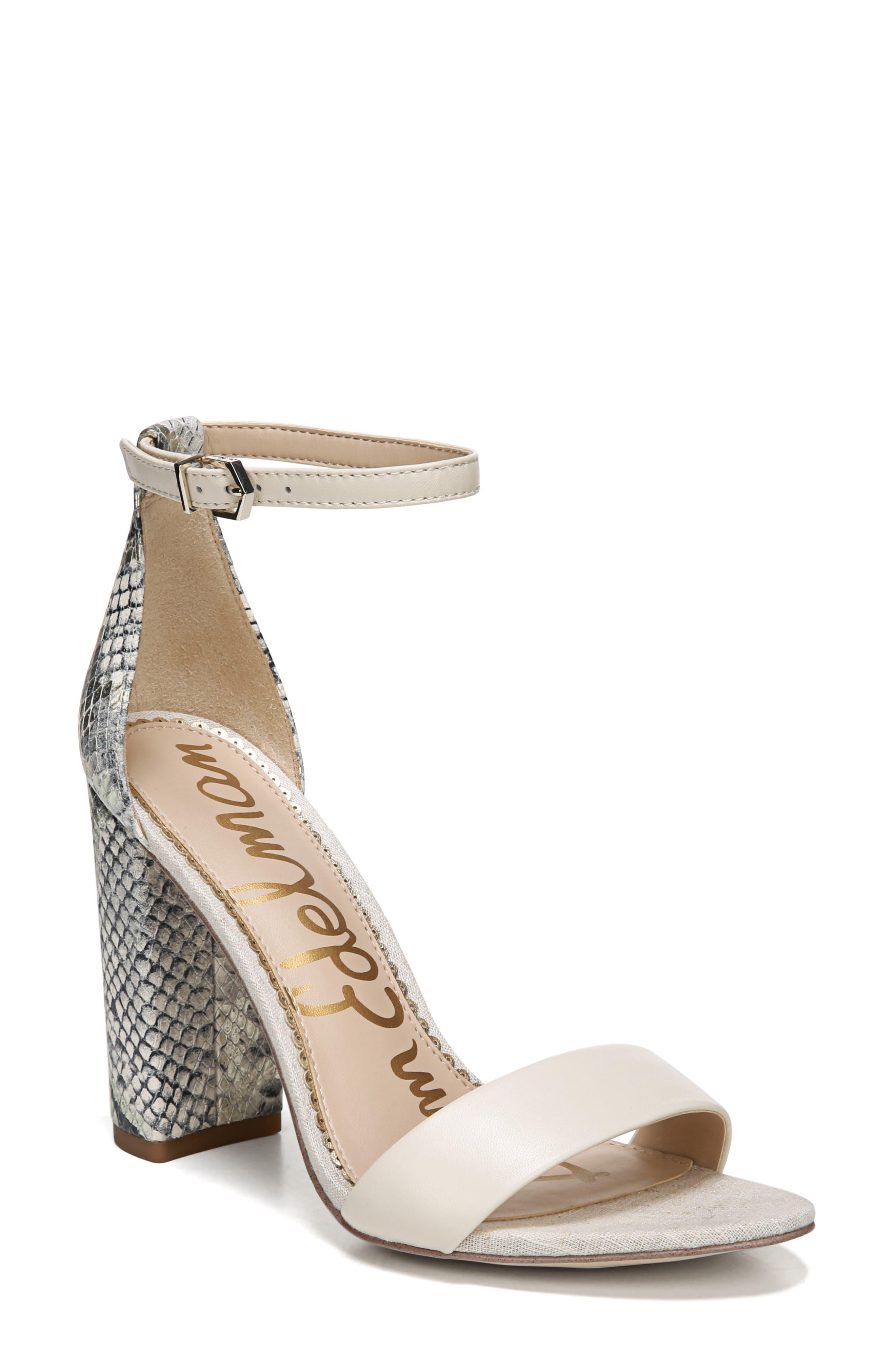 Sam Edelman Yaro Ankle Strap Sandal, Ivory