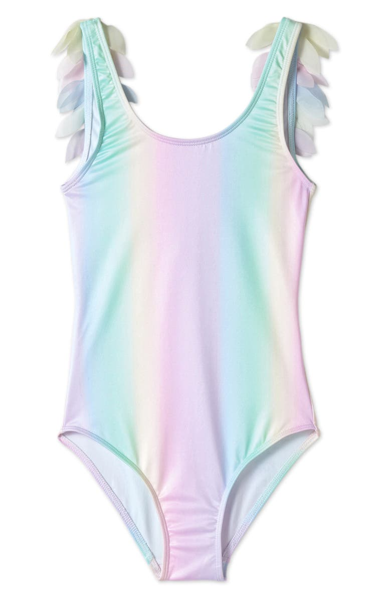 STELLA COVE Rainbow Petals One-Piece Swimsuit, Main, color, MULTICOLOR