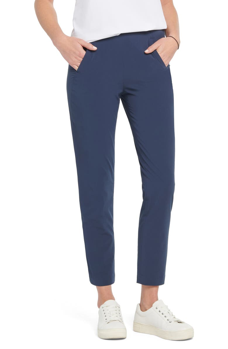 NIC+ZOE Tech Stretch Ankle Pants, Main, color, DARK INDIGO