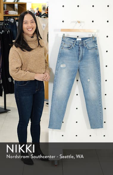 The Billy High Waist Ankle Skinny Jeans, sales video thumbnail