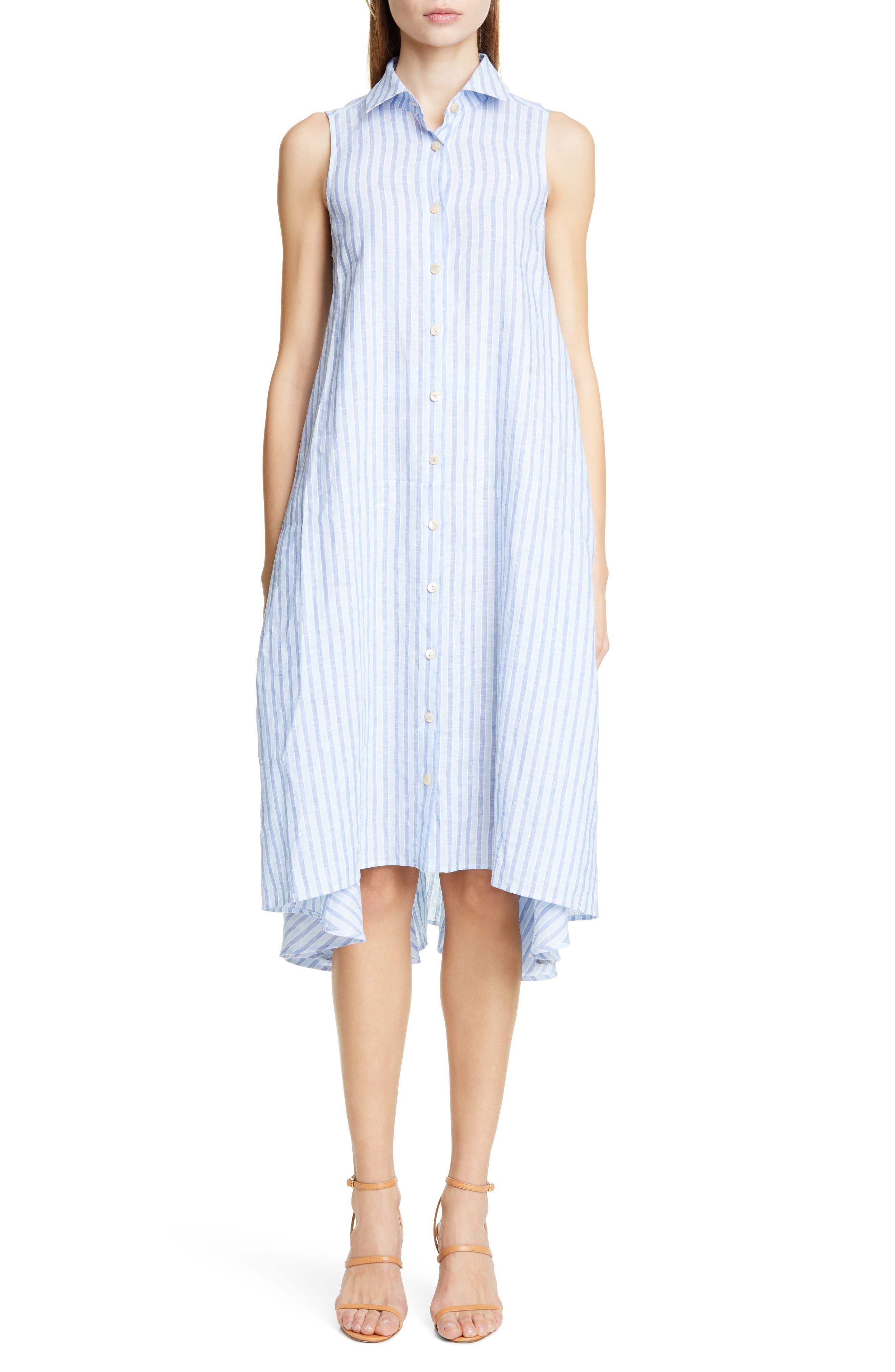 Palmer/harding Sedona Sleeveless Shirtdress, US / 6 UK - Blue
