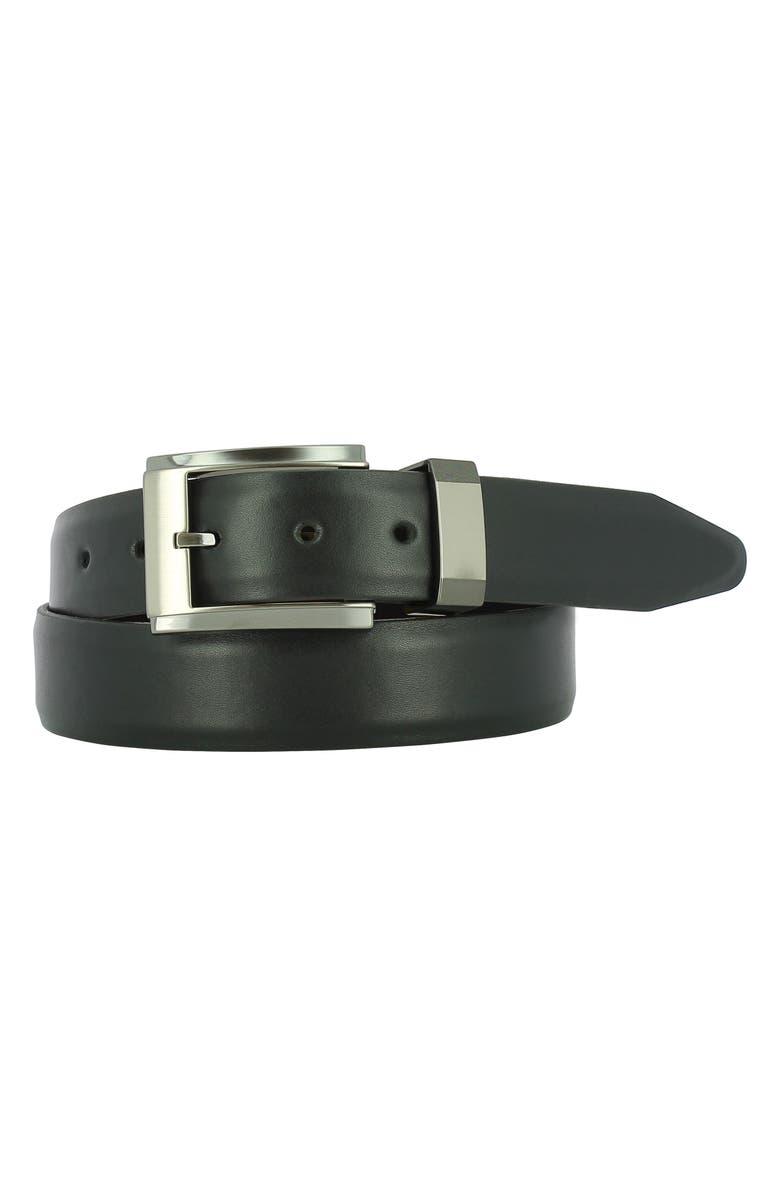 REMO TULLIANI Luke Leather Belt, Main, color, 001