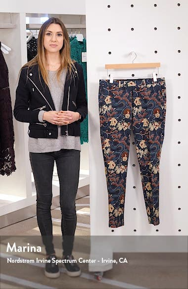 Tego Floral Jacquard Skinny Fit Dress Pants, sales video thumbnail