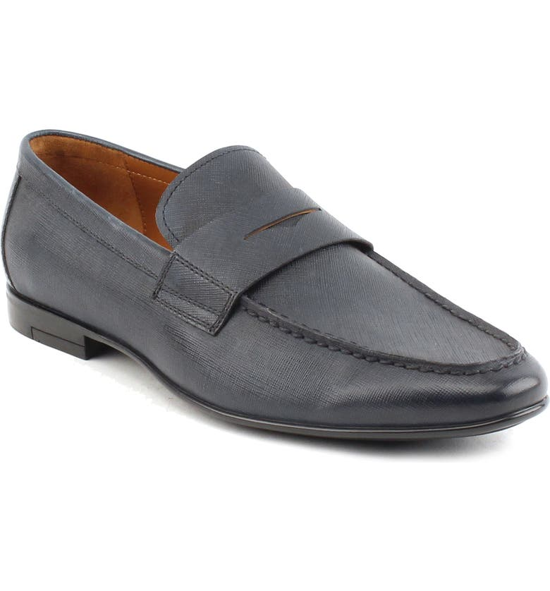 GORDON RUSH Phillips Penny Loafer, Main, color, NAVY LEATHER