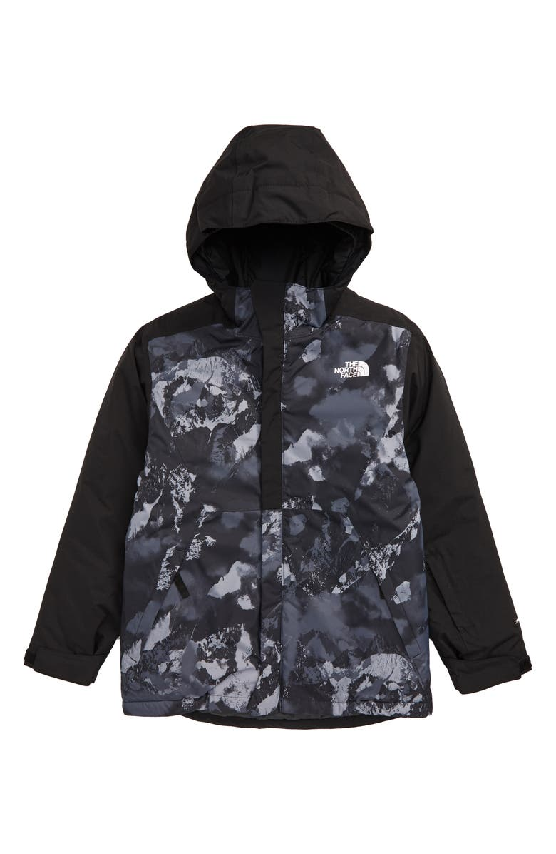 THE NORTH FACE Brayden Waterproof & Windproof Heatseeker<sup>™</sup> Insulated Snowsports Jacket, Main, color, TNF BLACK MTN SCAPE PRINT
