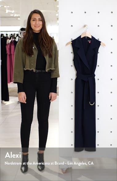 Notch Lapel Belted Jumpsuit, sales video thumbnail