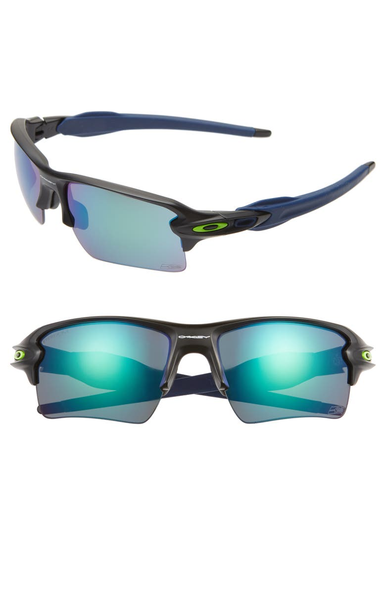 OAKLEY NFL Flak 2.0 XL 59mm Polarized Sunglasses, Main, color, SEATTLE SEAHAWKS