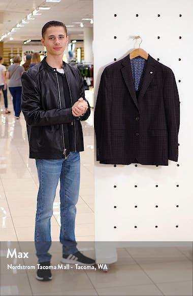 Konan Trim Fit Plaid Wool Sport Coat, sales video thumbnail