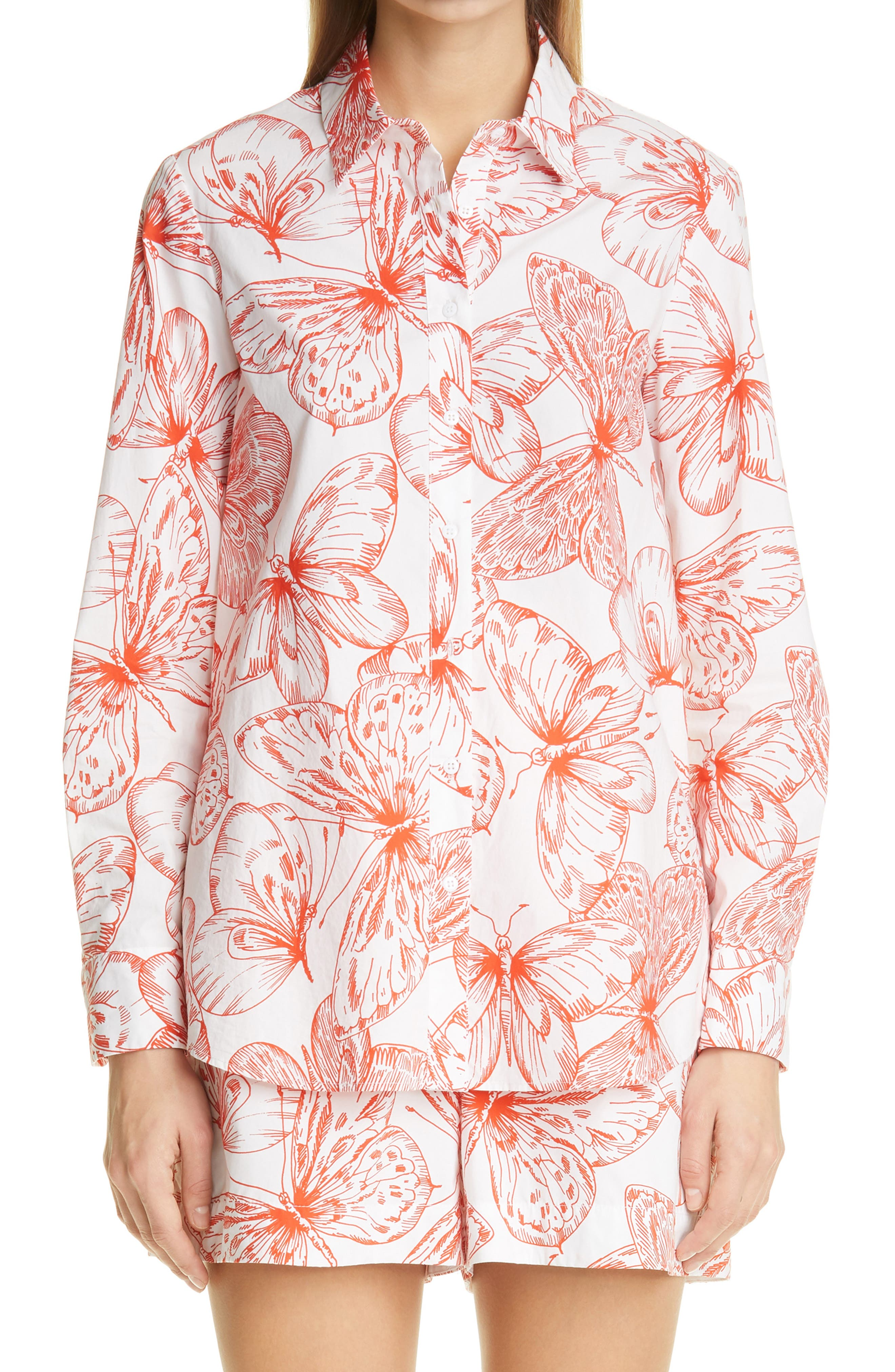 Butterfly Cotton Blouse