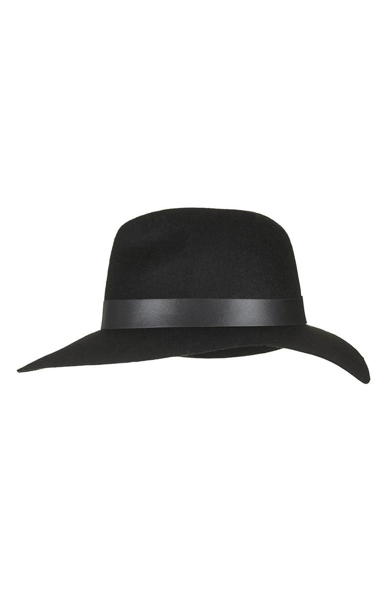 TOPSHOP Wide Brim Fedora, Main, color, 001