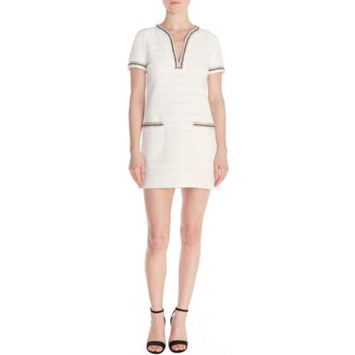 Sandro Josepha Tweed Shift Dress, US / 40 FR - Ivory