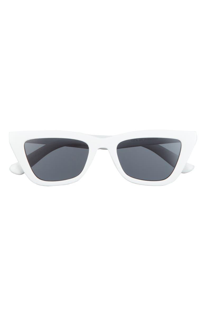 BP. 50mm Cat Eye Sunglasses, Main, color, WHITE