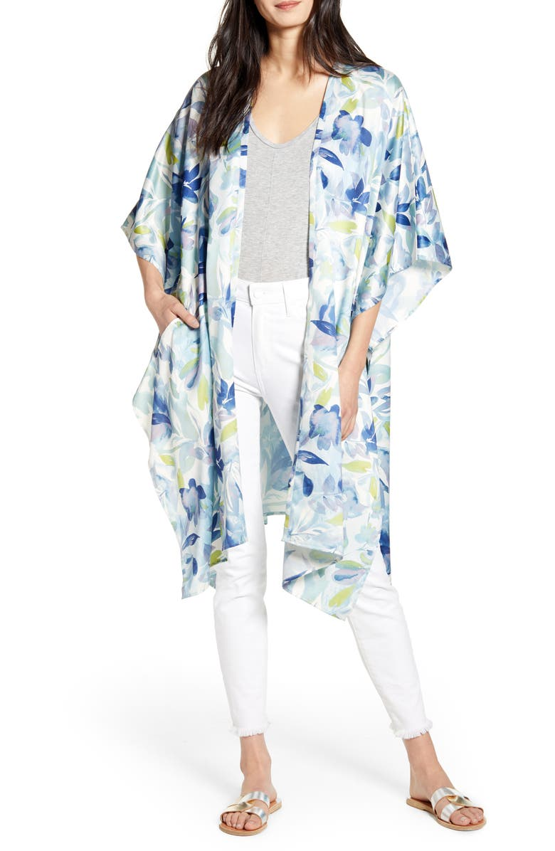NORDSTROM Printed Duster, Main, color, 450