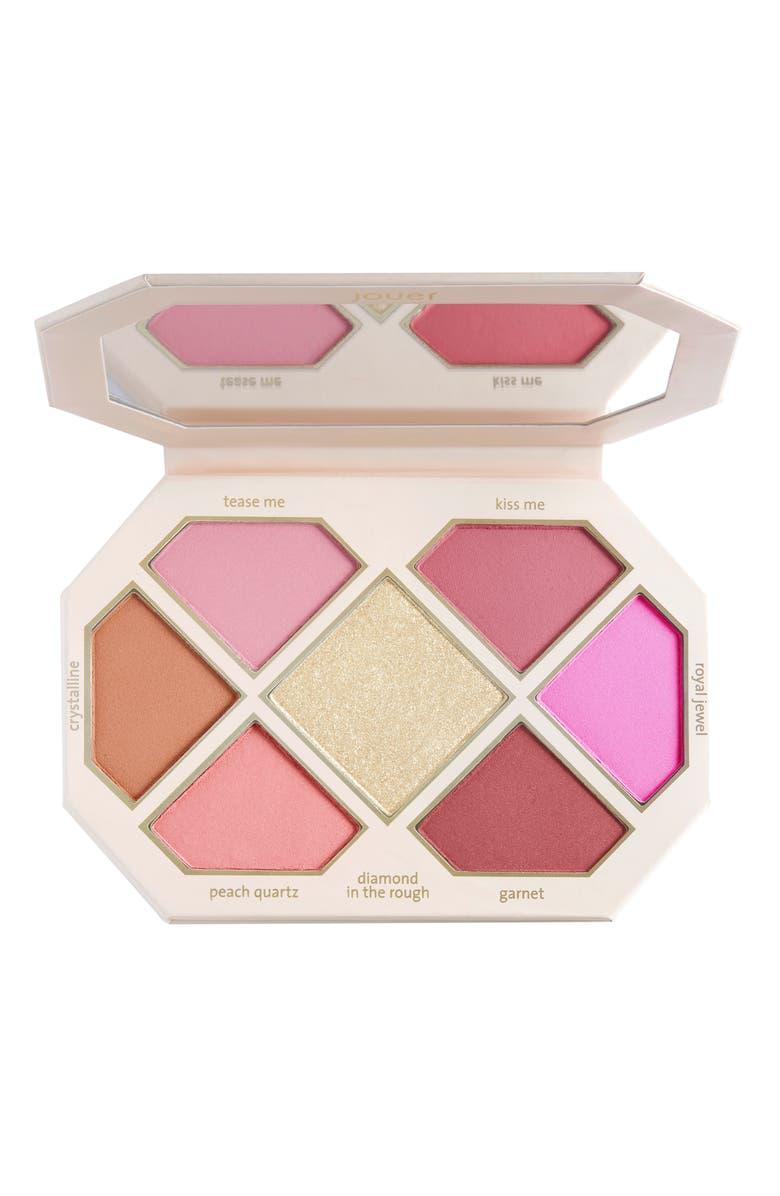 JOUER Rose Cut Gems Blush & Cheek Topper Palette, Main, color, 000