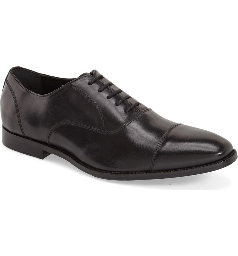 GORDON RUSH 'Dillon' Cap Toe Oxford, Main, color, BLACK LEATHER