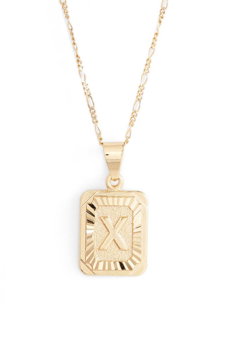 BRACHA Initial Pendant Necklace, Main, color, GOLD-X