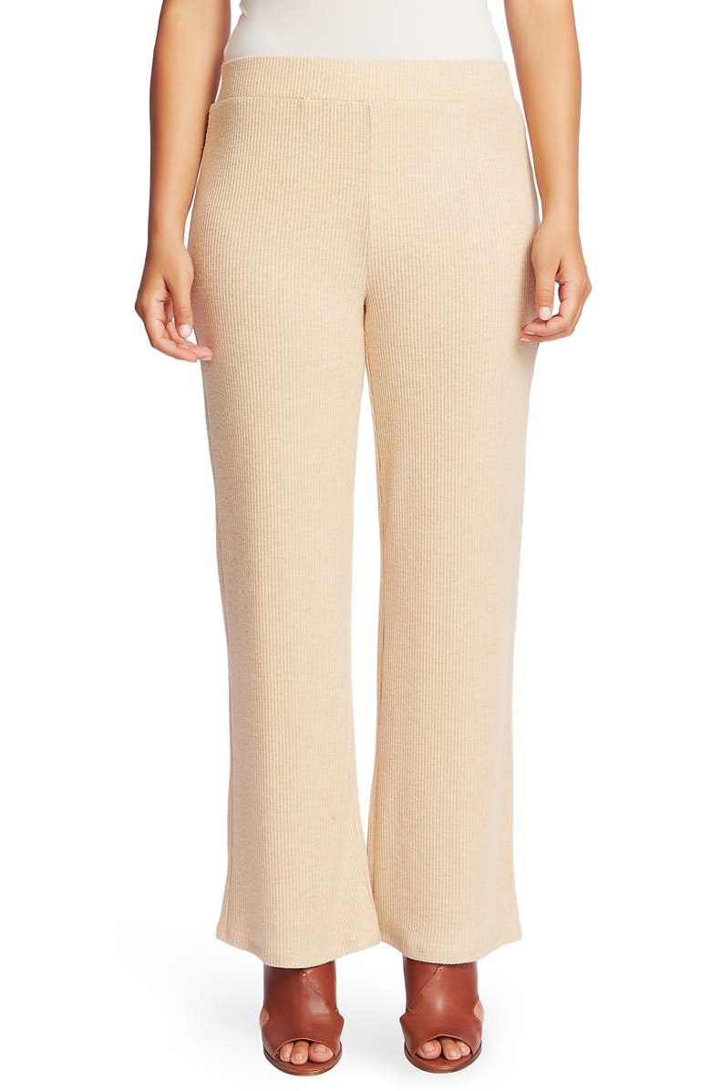 CHAUS Ribbed Brushed Jersey Pull-On Pants, Main, color, WILDWOOD