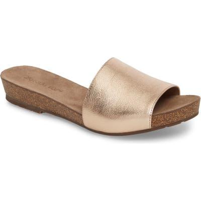 Chocolat Blu Viveca Slide Sandal, Metallic