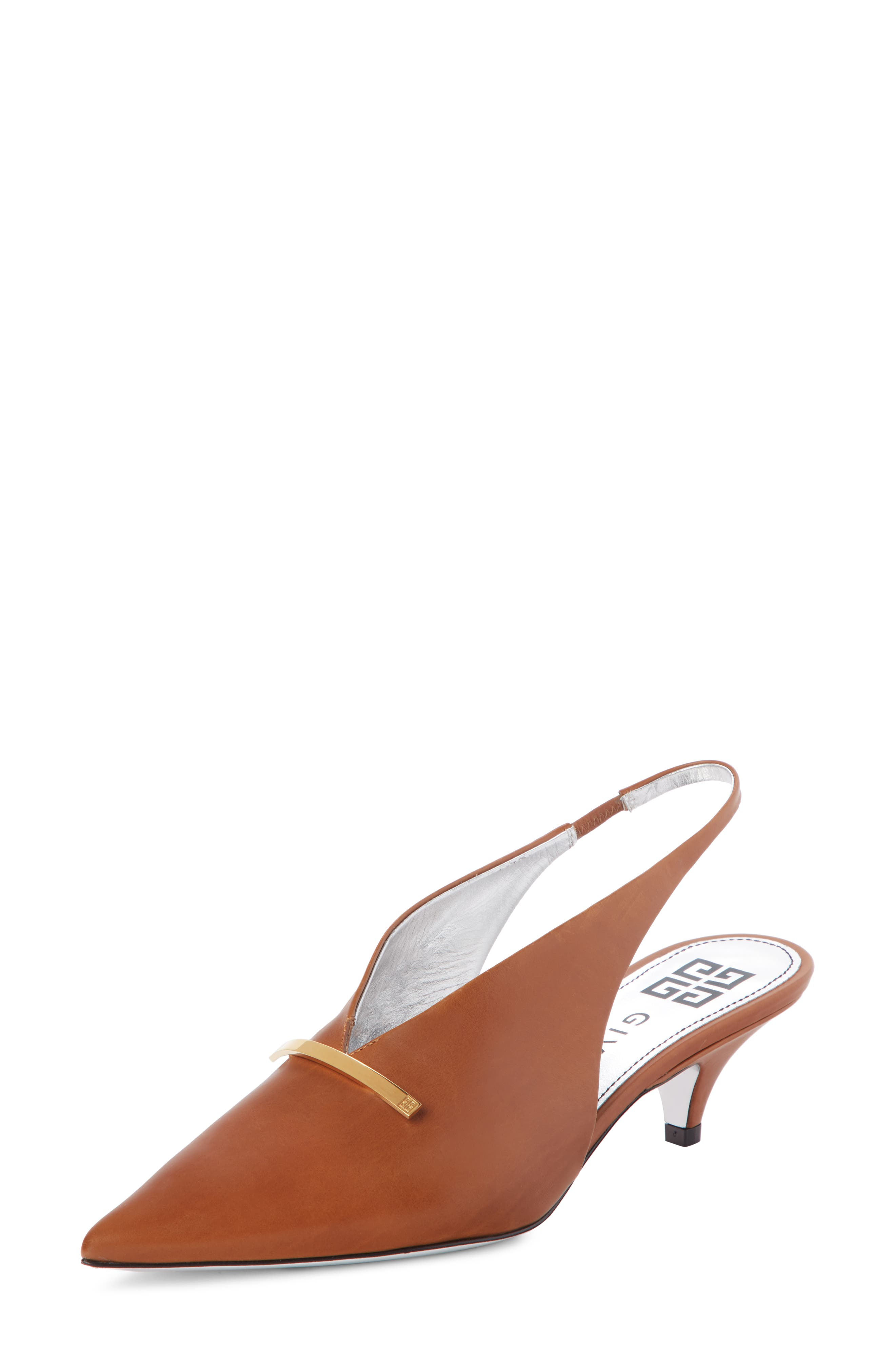 Givenchy Logo Bar Slingback Pump - Brown