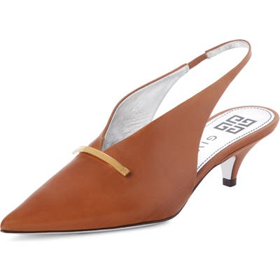 Givenchy Logo Bar Slingback Pump - Brown