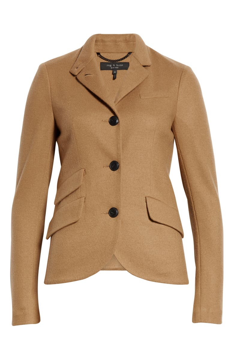 RAG & BONE Slade Wool Blazer, Alternate, color, DARK CAMEL