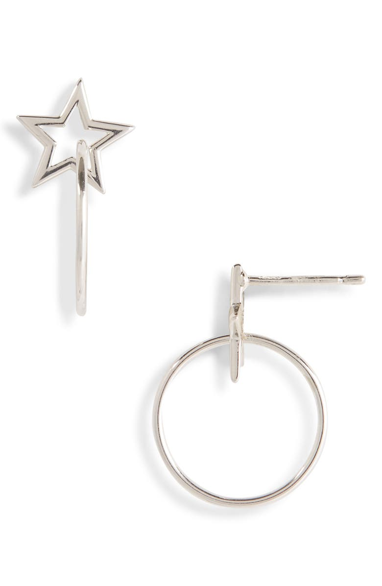NATASHA SCHWEITZER Star Hoop Earrings, Main, color, 040