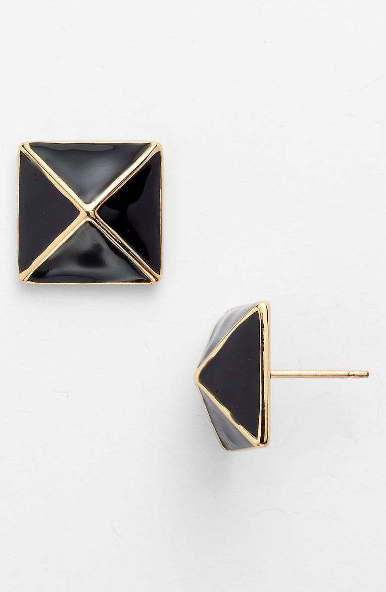 KATE SPADE NEW YORK 'locked in' small stud earrings, Main, color, 001