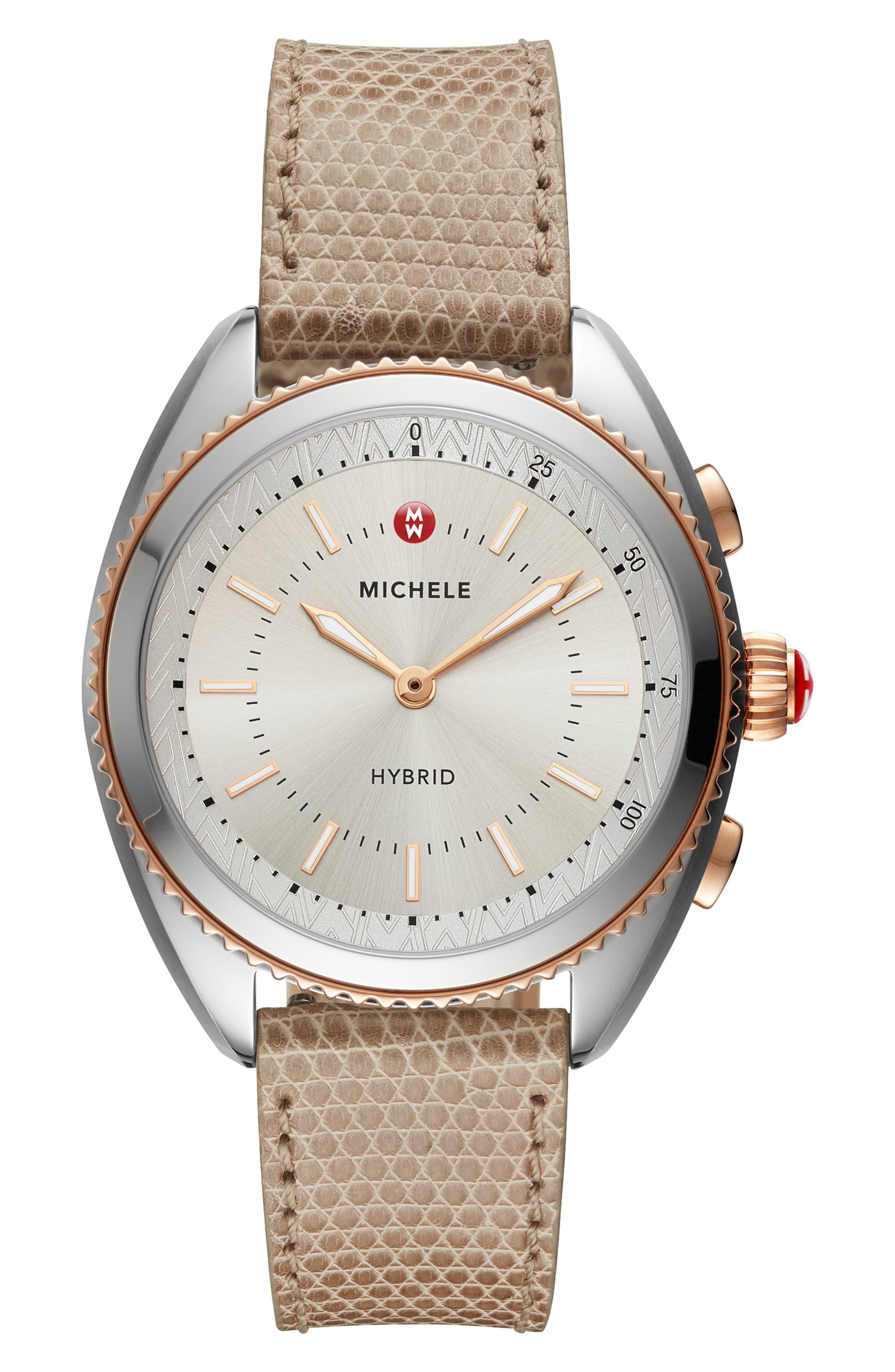 Hybrid Tracker Smart Watch, 38mm, Main, color, PINK/ CASHMERE/ ROSE GOLD