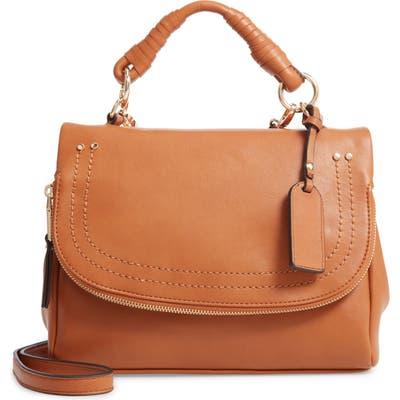 Sole Society Rubie Faux Leather Crossbody Bag - Beige