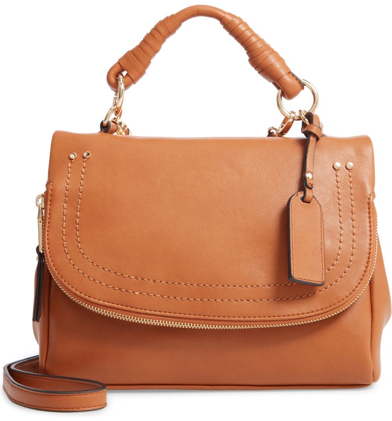 SOLE SOCIETY Rubie Faux Leather Crossbody Bag, Main, color, 250