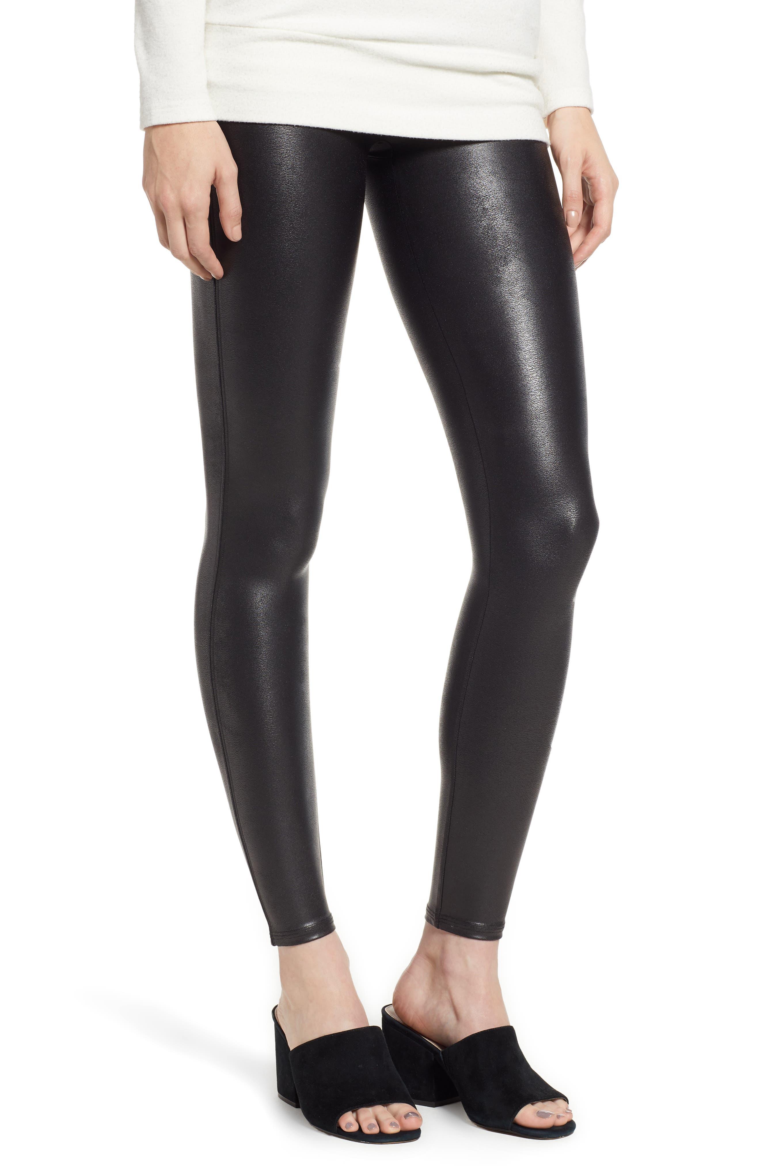 SPANX® Faux Leather Leggings (Petite)